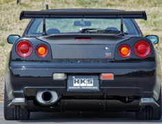 Skyline GT-R - BNR34 - Material: Titanium - Pieces: 2 - Pipe Size: 85mm - Tail Size: 124mm - 31029-AN009