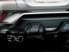 C-HR - NGX10 - Rear Bumper Spoiler - Construction: Resin (PPE) - Colour: Matte Black - MS343-10003
