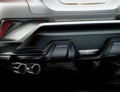 C-HR - NGX10 - Rear Bumper Spoiler - For vehicles with ICS - Construction: Resin (PPE) - Colour: Matte Black - MS343-10003