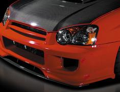 Impreza WRX - GDA - Front Bumper Spoiler with Carbon Undercover - Construction: FRP/Carbon - Colour: Unpainted - DLAP-GDC-FBSC