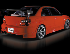 Impreza WRX - GDA - 3 Piece Kit: Front Bumper Spoiler with Carbon Undercover + Side Steps + Rear Half Spoiler - Construction: FRP/Carbon - Colour: Unpainted - DLAP-GDC-3PKC
