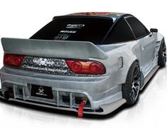 180SX - RS13 - 3 Piece Set: Front Bumper + Side Steps + Rear Bumper - Construction: FRP - Colour: Unpainted - D-231-SET