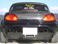 Rear Bumper Diffuser - Construction: Carbon Fiber - TC-RBD-CAR