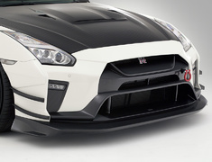 GT-R - R35 - Front Bumper Ver.3 - Construction: FRP + 3K Carbon - Colour: Unpainted - VANI241C