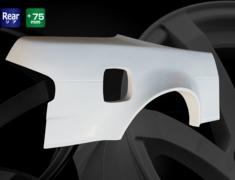 Silvia - S13 - Rear Wide Fenders - Material: FRP - Type: Unpainted - Width: +75mm each side - D-201-RF