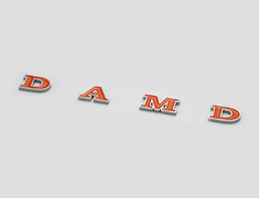 Jimny Sierra - JB74W - DAMD American Emblem - Colour: Orange/Silver - DAMD-JSLB-DAE