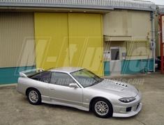 Silvia - S13 - 3 Piece Set: Front Bumper (small) + Front Fender Set (Type I) + FRP Bonnet - Construction: FRP - Colour: Unpainted - MASA-M13M14-3PS