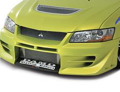 Lancer Evolution IX - CT9A - Front Bumper - Construction: FRP - Colour: Unpainted - Accent Color: Carbon Finish Centre - DAMD-EVO89-FB
