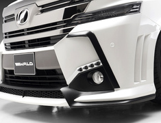 Alphard/Vellfire - AGH35W - Front Bumper Spoiler with LEDs - Construction: FRP - Colour: Unpainted - WALD-VSLAGBT-FBPwLED