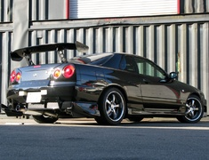 Skyline - R34 25GTT - ER34 - Material: SUS304 Stainless Steel - Pipe Size: 80mm - Tail Size: 90mm - Tail Type: Left Exit - 280107