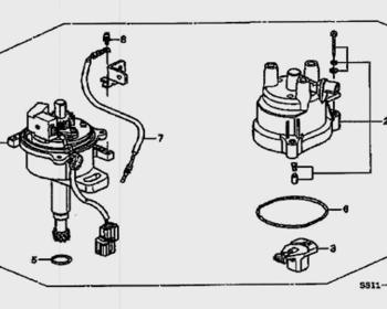 Honda Beat - Distributor Diagram