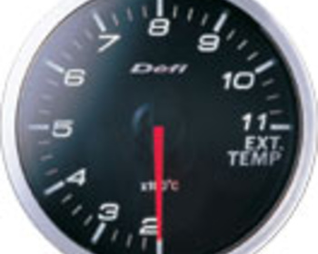 Defi - Link BF Meter - Exhaust Temperature - White