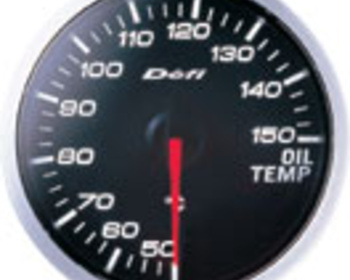 Defi - Link - BF Meter - Oil Temperature - White