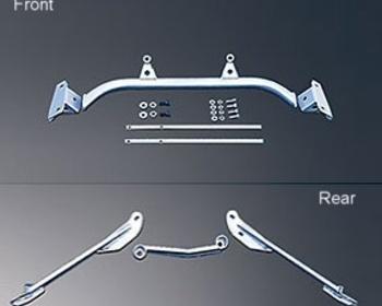 HKS Kansai - Front Lower Arm and Rear Brace Kit