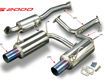 Toda - Exhaust System - S2000 - Straight Tail