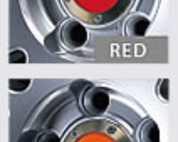 Enkei - Color Center Caps - Red and Orange