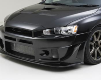 Sequential - Black Illusion - Evo X - Front Bumper