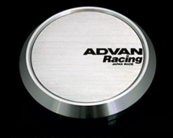 Yokohama Wheel Design - Advan Racing - Center Cap - Silver - Flat Type