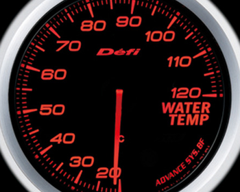 Defi Link Meter - ADVANCE BF - Water Temperature - Amber Red