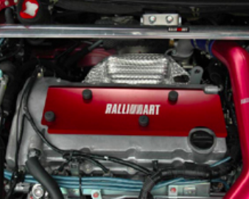 Ralliart - Engine Plug Cover - Red