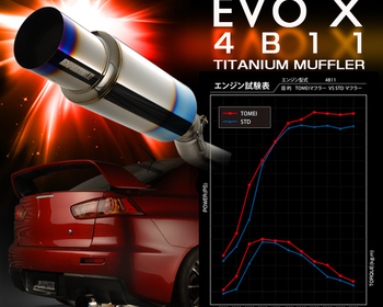 Tomei - Expreme Ti - Titanium Muffler - Evo X