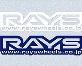 Rays Engineering - Sticker - 220mm x 120mm - White/Blue