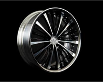 RAYS - Black Fleet - V350 - Diamond Cut/Black Side