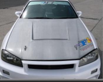 Car Shop F1 - GTR F1 Hood - R34 Silver Carbon