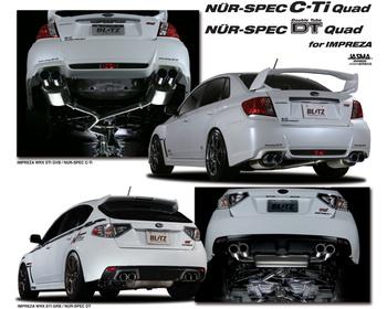 Blitz - NUR-SPEC C-Ti /DT Quad for IMPREZA GR#/GV# - Exhaust System
