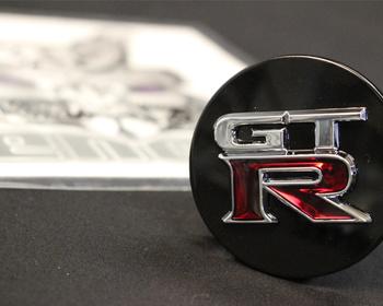 RHM0025 BL - Nissan - R35 GT-R - Mines GT-R Wheel Cap - Black