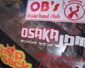 Osaka JDM New Round Sticker (on glass)
