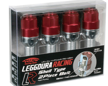 Project Kics - Leggdura Racing Bolt (4piece) Set - Red