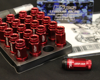 RL53-13R - Roulette Type - 16 Nuts + 4 Lock Nuts - M12xP1.25 - L=53mm - Red
