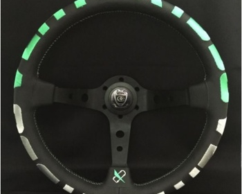 Car Make T&E - Vertex - Steering Wheel - VERTEX 1996 GREEN - 350mm