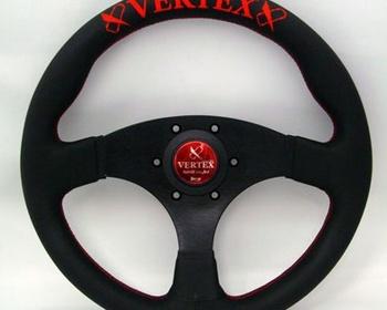 Car Make T&E - Vertex - Steering Wheel - Flat Type - Red