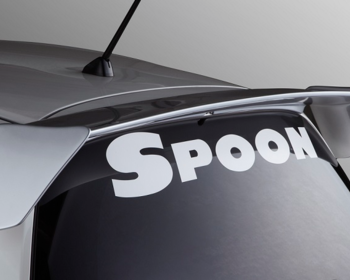 Spoon - White Team Sticker - 800mm