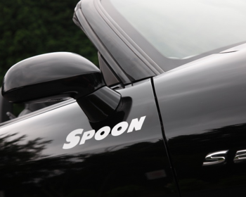 Spoon - White Team Sticker - 300mm