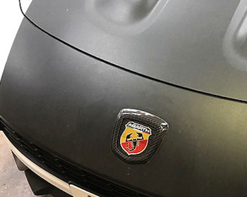 Three Hundred - Carbon Emblem Cover Front and Rear Set for ABARTH 124 Spider