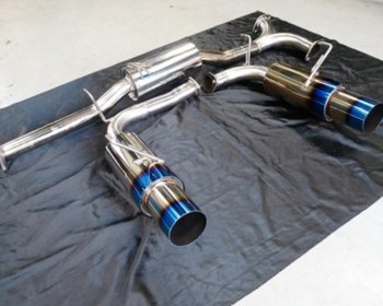 Be Free - Twin Stainless Exhaust with Titanium Style Tail