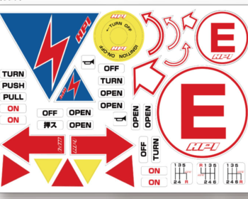 HPI - Racing Sticker Sheet