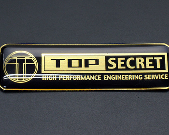 Top Secret - Aluminum Emblem