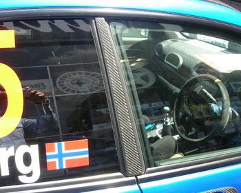 Launsport - Carbon B Pillar Cover for Subaru GD (sedan)