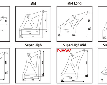 Sard - GT Wing Sub Parts - Stays/Base Mounts