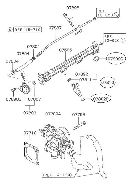 Mitsubishi - Insulator Fuel Injector