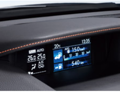 Subaru - XV - GPE - Multi Function Display Hood - Orange Stitch - J1317-FJ400
