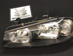 Headlight Housing LH - Includes A, B and C only - 26075 - 26075-AB160