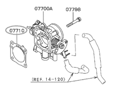 Throttle Gasket - Category: Engine - MD180361