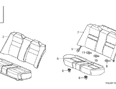 Cover Rear Seat Bottom (Item #5) - Category: Interior - 82131-SNW-J01ZA