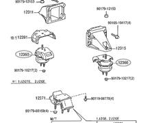 Transmission Mount MT - Category: Engine - 12371 - 12371-46170