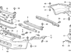 Front Bumper Reinforcing Beam (#9 in diagram) - Category: Exterior - 71130-S2A-G01ZZ